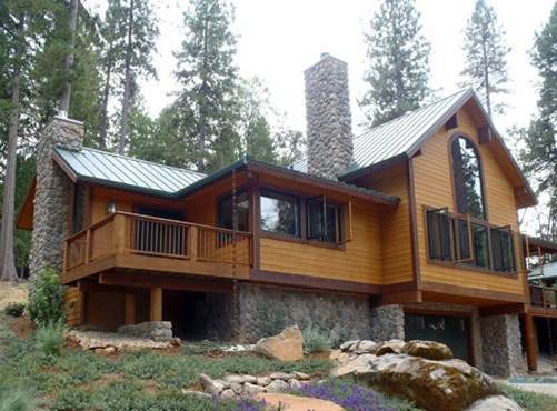 Sierra Lodge, design and architectural floor plan by David Wright Architect